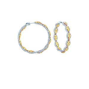 Diana M. Fine Jewelry 18K Two-Tone 13.00 ct. tw. Diamond Earrings   - Size: NoSize
