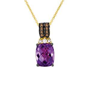 Le Vian 14K 3.01 ct. tw. Diamond & Amethyst Necklace   - Size: NoSize