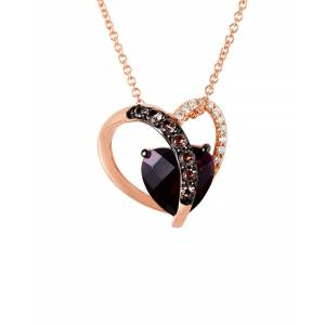 Le Vian 14K Rose Gold 2.20 ct. tw. Diamond & Gemstone Pendant Necklace   - Size: NoSize
