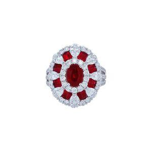 Diana M. Fine Jewelry 18K 5.69 ct. tw. Diamond & Ruby Ring   - Size: NoSize