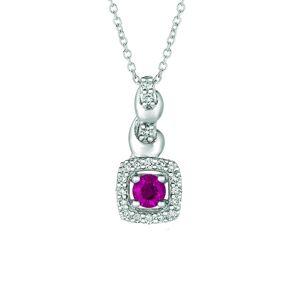 Le Vian 14K 0.39 ct. tw. Diamond & Ruby Pendant Necklace   - Size: NoSize