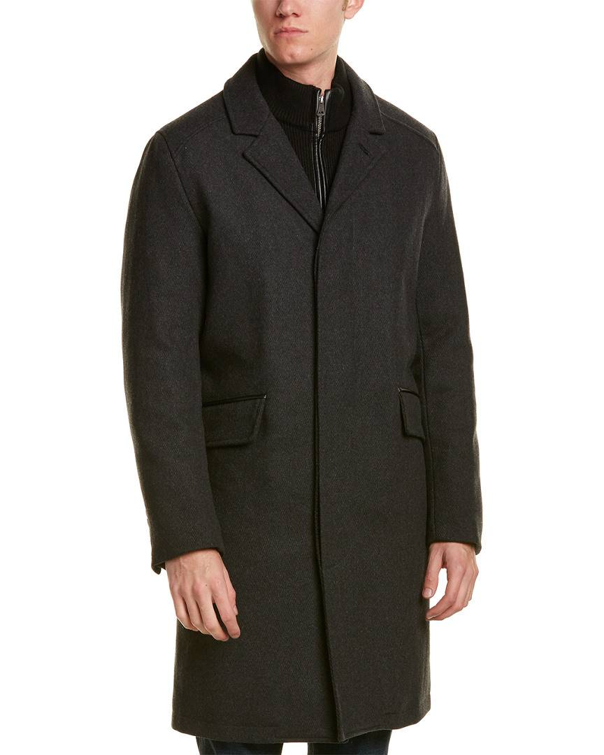 Cole Haan Signature Twill Wool-Blend Coat   - Size: Small