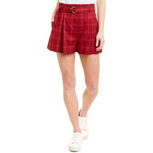 Jonathan Simkhai Pleated Short  -Red - Size: 6