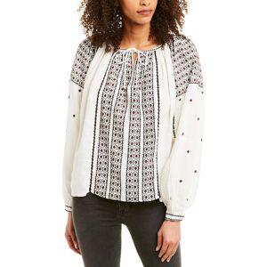 FRAME Denim Anita Top  -White - Size: Extra Small