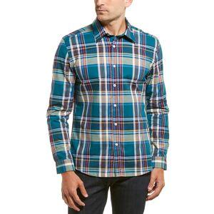 Hyden Yoo Woven Shirt  -Blue - Size: Large