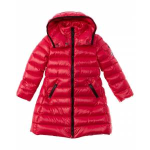 Moncler Longline Puffer Coat  -Pink - Size: 5A