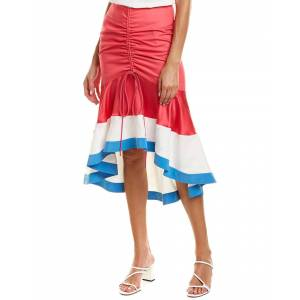 PRABAL GURUNG Biniod Silk-Trim Pencil Skirt  -Pink - Size: 10