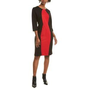 Joan Vass Colorblocked Sheath Dress   - Size: 2