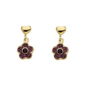 Little Miss Twin Stars Molly Glitz Flowery Glitz 14K Plated Enamel Earrings   - Size: One Size