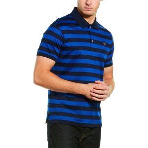 Paul & Shark Striped Logo Badge Polo Shirt  -Blue - Size: Small
