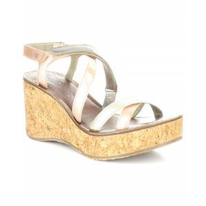 FLY London Gope Leather Comfort Wedge Sandal   - Size: 41