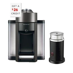 DeLonghi Nespresso Vertuo Coffee & Espresso Single-Serve Machine & Aeroccino Milk Frother   - Size: NoSize