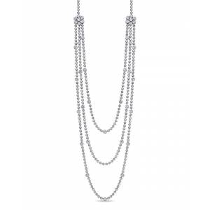 Diamond Select Cuts Certified 18K 27.14 ct. tw. Diamond Necklace   - Size: NoSize