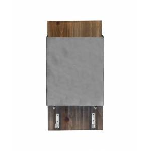 1THRIVE Brushed Silver Mail Storage