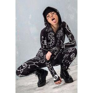 BADINKA Festival Outfit for Women - Burning Man Clothing Women - Rave Bodysuit - black - Size: Extra Small