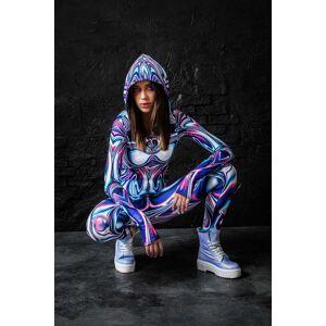 BADINKA Rave Clothes for Women - Rave Outfits - Festival Clothing - EDM EDC Psy Trance Goa - purple - Size: Large