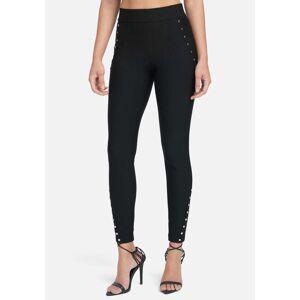 Bebe Women's Rivet Leggings, Size XS in Black Spandex/Nylon