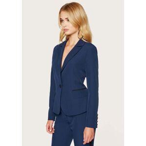 Bebe Women's Slim Fitted Blazer Jacket, Size 12 in Peacoat Spandex