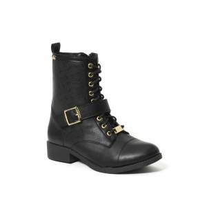 Bebe Women's Ofeibea Logo Ankle Boots, Size 9.5 in Black Synthetic