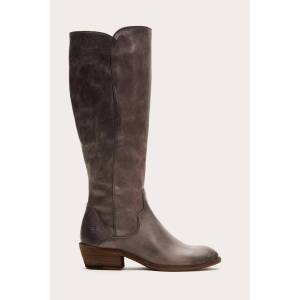 The Frye Company Carson Piping Tall - Graphite - Size: 10