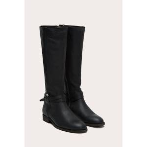 The Frye Company Melissa Belted Tall Wide Calf - Black - Size: 9-5