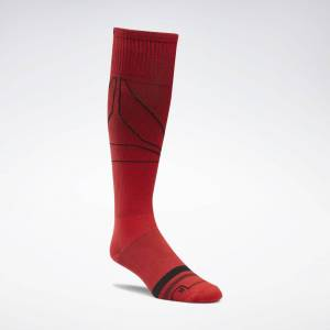 Reebok Men's Knee High Compression Socks in Red Size OSFM - Training Accessories