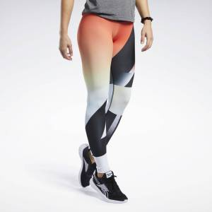 Reebok Women's CrossFit Lux Leggings in Vivid Orange Size S - Training Apparel