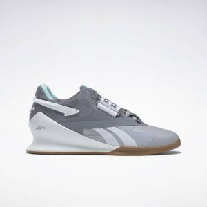 Reebok Women's Legacy Lifter II Weightlifting Shoes in Cold Grey 2/Cold Grey 4/White Size 8.5 - Training Shoes