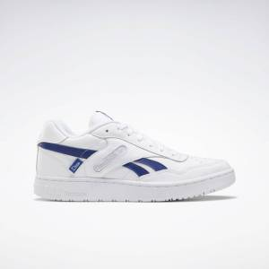 Reebok Unisex Dime BB4000 Basketball Shoes in White/Deep Cobalt/Cold Grey 2 Size M 9 / W 10.5 - Basketball Shoes