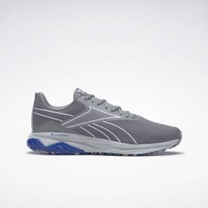 Reebok Men's Liquifect 180 2 Running Shoes in Pure Grey 4/Ftwr White/Court Blue Size 8 - Running,Walking Shoes