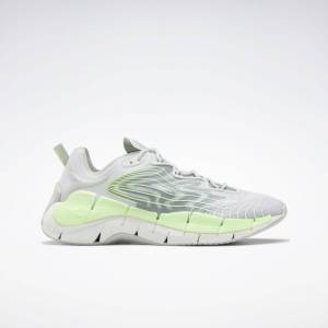 Reebok Unisex Zig Kinetica II Shoes in Pure Grey 2/Neon Mint/Harmony Green Size M 13 / W 14.5 - Lifestyle Shoes