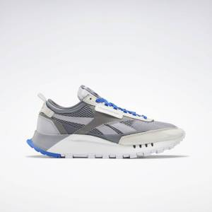 Reebok Unisex Classic Leather Legacy Shoes in Grey/Cold Grey 6/Pure Grey 2 Size M 8 / W 9.5 - Lifestyle Shoes