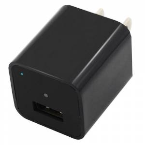 HomeSecuritySuperstore USB Cube Wall Charger Hidden Spy Camera Black 1080p HD DVR