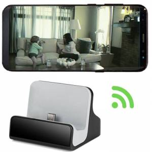 HomeSecuritySuperstore Android Micro USB Charging Dock Spy Camera 1080p HD WiFi