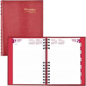 Brownline Wholesale Daily Appointment Books / Planners: Discounts on Brownline CoilPro Daily Hard Cover Planner REDCB389CRED