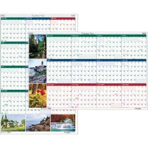 House of Doolittle Wholesale Laminated Wall Planners: Discounts on House of Doolittle Earthscapes Scenic Wipe-off Wall Planner HOD3931