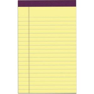 """Roaring Spring Canary Legal Pad 5""""x8"""""""