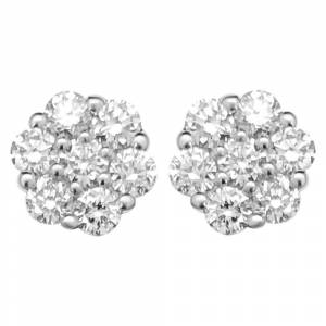 HipHopBling Cluster Diamond Earrings .45cttw 10K Yellow Gold