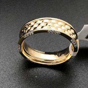 HipHopBling Jubilee Designer Link .34cttw Diamond 10K Yellow Gold Ring