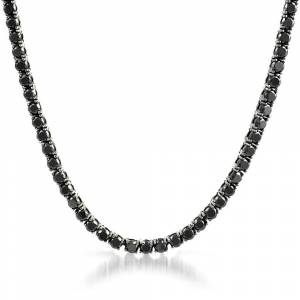 HipHopBling Black 4MM CZ Stainless Steel Tennis Chain