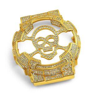 HipHopBling Custom Skull CZ Gold Case for Casio G Shock GA100