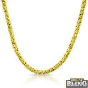HipHopBling Lemonade 6MM CZ Gold Stainless Steel Tennis Chain