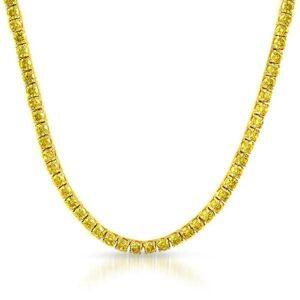 HipHopBling Lemonade 4MM CZ Gold Stainless Steel Tennis Chain