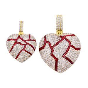 HipHopBling Bleeding Heart Pendant Diamond 10K Yellow Gold