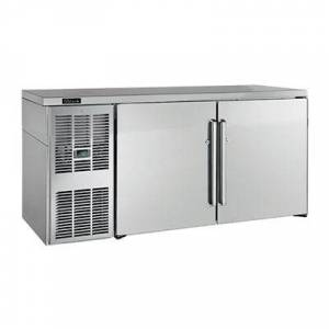 "Perlick ""Perlick BBSLP108 108"""" Bar Refrigerator - 4 Swinging Solid Doors, Stainless, 120v"""
