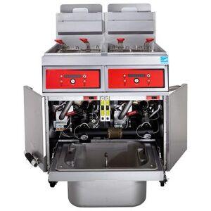 Vulcan 3VK85DF Gas Fryer - (3) 90 lb Vats, Floor Model, Liquid Propane
