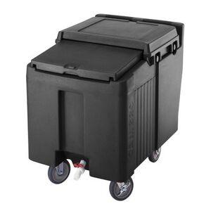 Cambro ICS125LB110 125 lb Insulated Mobile Ice Caddy - Plastic, Black