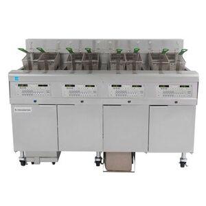 Frymaster 4FQG30U Gas Fryer - (4) 30 lb Vats, Floor Model