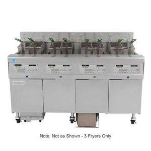 Frymaster 3FQG30U Gas Fryer - (3) 30 lb Vats, Floor Model