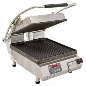 Star PGT14IE Single Commercial Panini Press w/ Cast Iron Grooved Plates, 120v